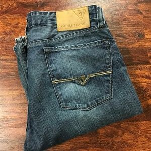 GUESS JEANS Desmond Relaxed Fit Straight Leg Blue